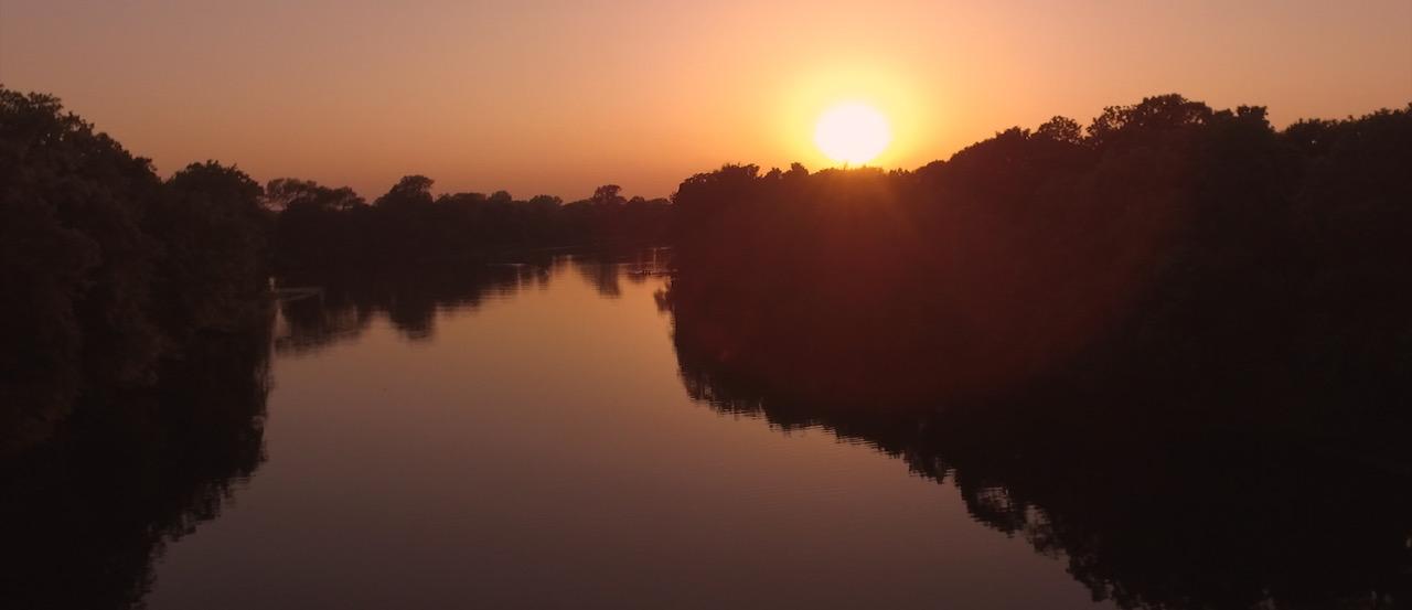 Zachód słońca dron