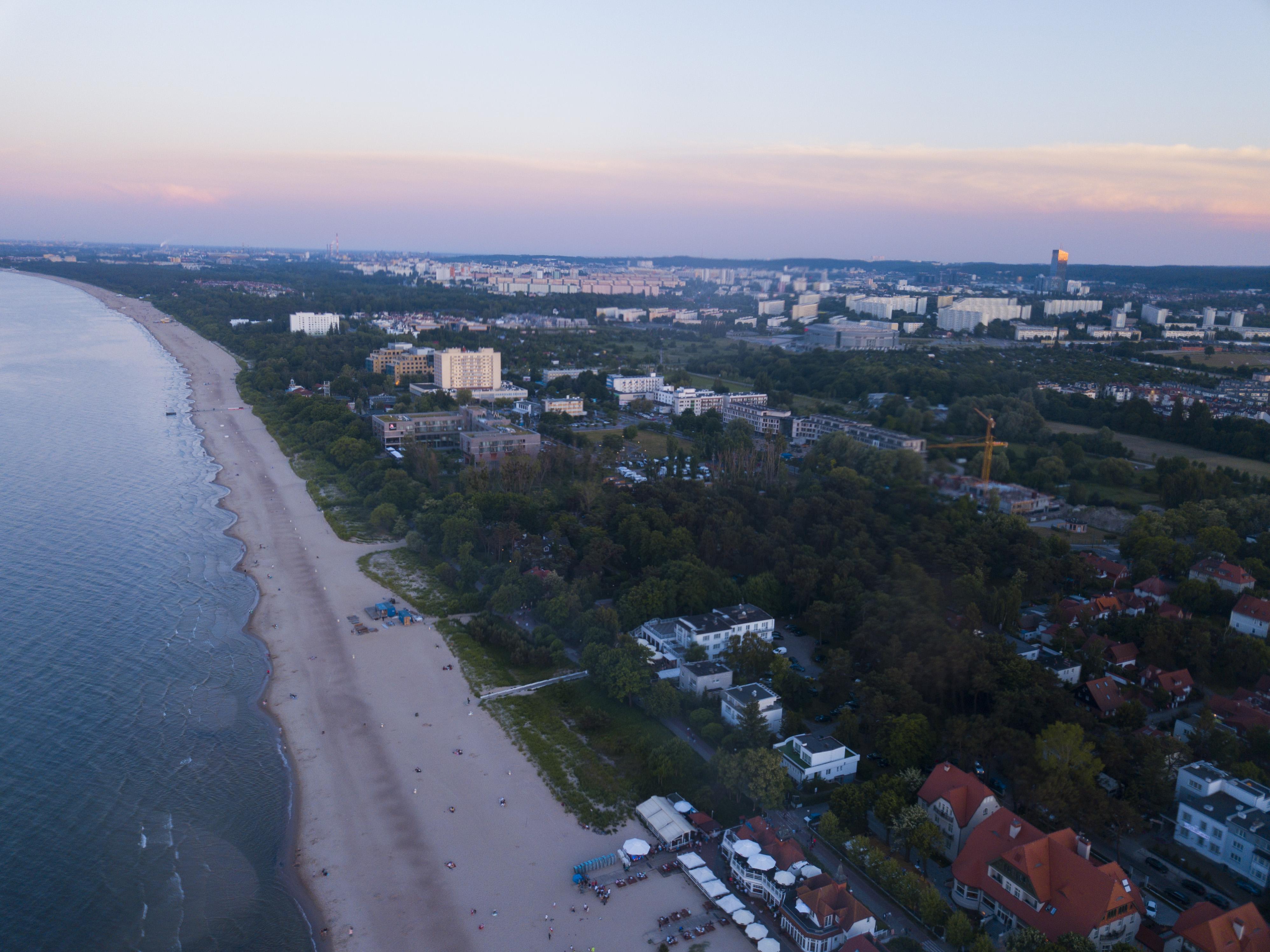 Sopot wybrzeże dron